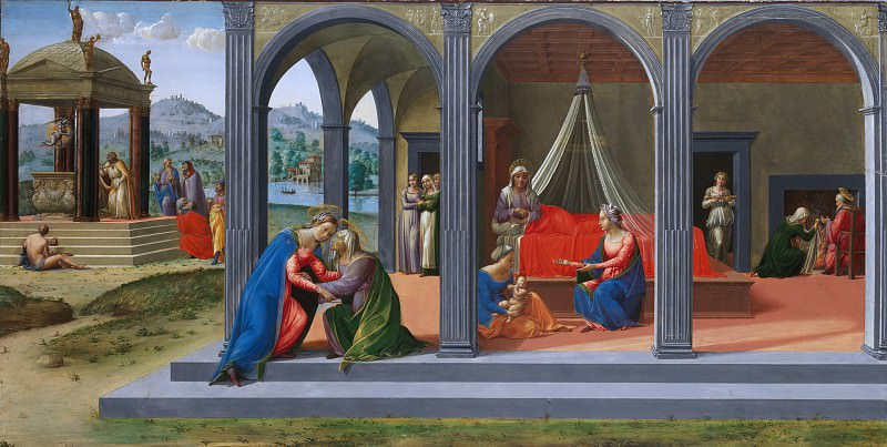 Francesco Granacci (Italian, Villamagna 1469–1543 Florence) - Scenes from the Life of Saint John the Baptist. Metropolitan Museum: part 2