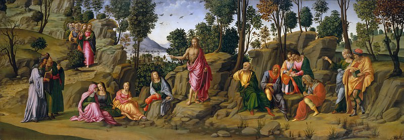Workshop of Francesco Granacci - Saint John the Baptist Bearing Witness. Metropolitan Museum: part 2