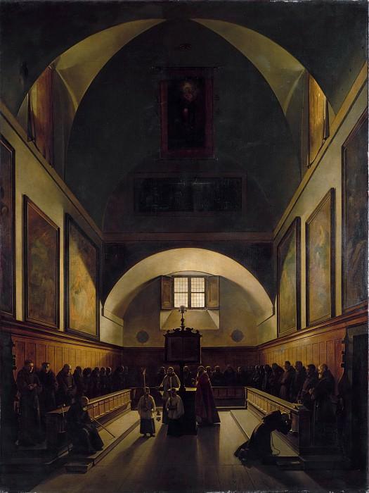 Франсуа Мариус Гране - Хор церкви капуцинов в Риме. Музей Метрополитен: часть 2