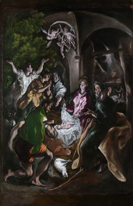 El Greco (Greek, Candia 1540/41–1614 Toledo) - The Adoration of the Shepherds. Metropolitan Museum: part 2 (Iráklion)