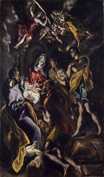 The Adoration of the Shepherds. El Greco (and Workshop)