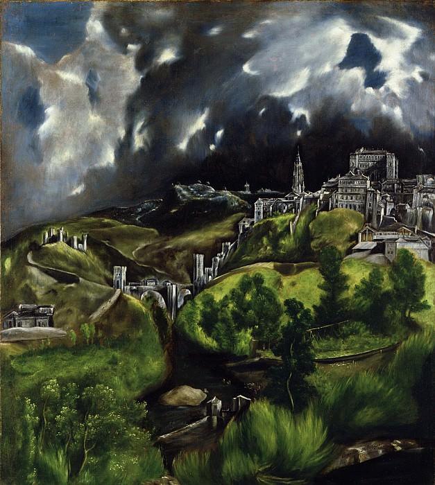 El Greco (Greek, Candia 1540/41–1614 Toledo) - View of Toledo. Metropolitan Museum: part 2 (Iráklion)