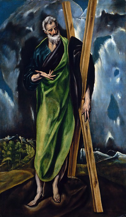 Workshop of El Greco - Saint Andrew. Metropolitan Museum: part 2