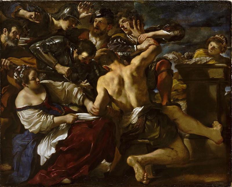 Guercino (Italian, Cento 1591–1666 Bologna) - Samson Captured by the Philistines. Metropolitan Museum: part 2