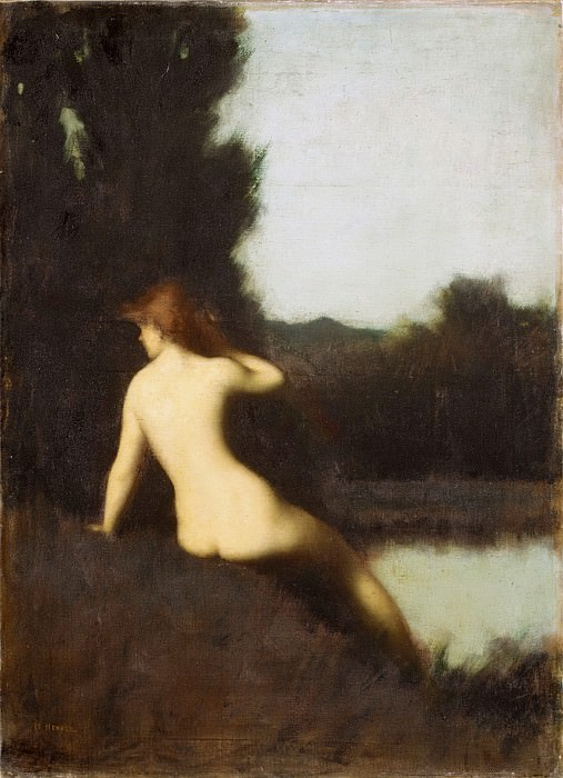 Jean-Jacques Henner - A Bather (Echo). Metropolitan Museum: part 2