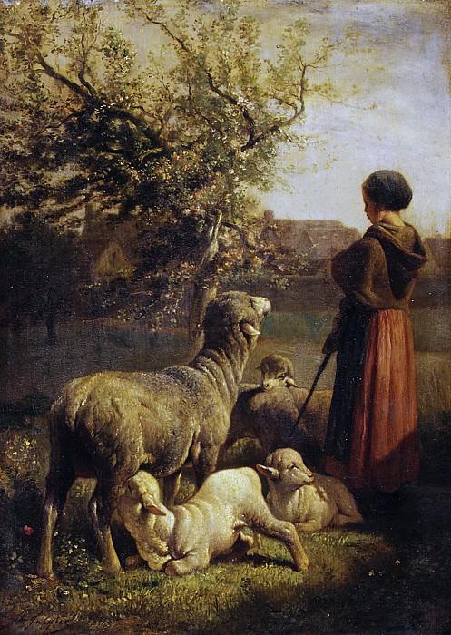 Charles Jacque - Springtime. Metropolitan Museum: part 2