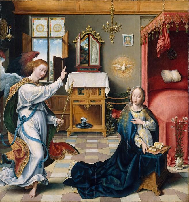 Joos van Cleve - The Annunciation. Metropolitan Museum: part 2