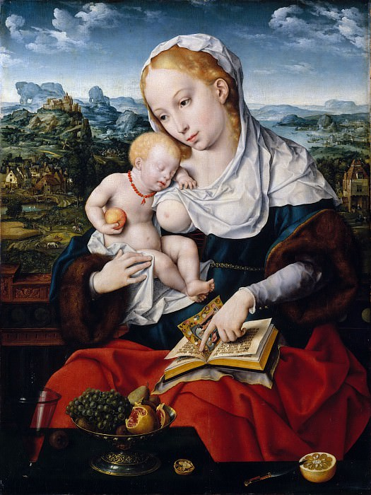 Joos van Cleve and a collaborator - Virgin and Child. Metropolitan Museum: part 2