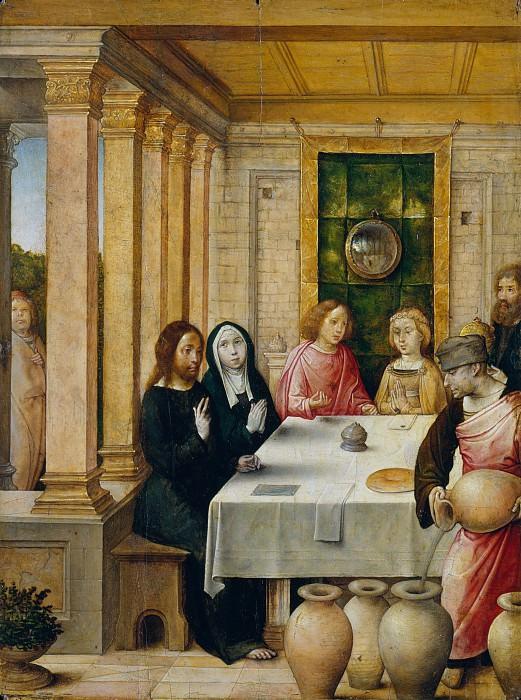 Juan de Flandes - The Marriage Feast at Cana. Metropolitan Museum: part 2