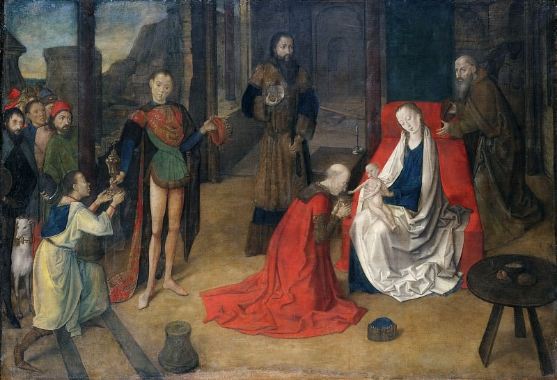 Justus of Ghent (Netherlandish, active by 1460–died ca. 1480) - The Adoration of the Magi. Metropolitan Museum: part 2