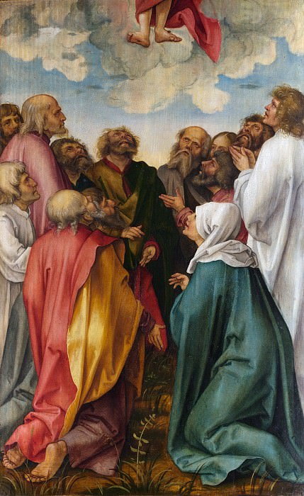 Hans Suess von Kulmbach - The Ascension of Christ. Metropolitan Museum: part 2