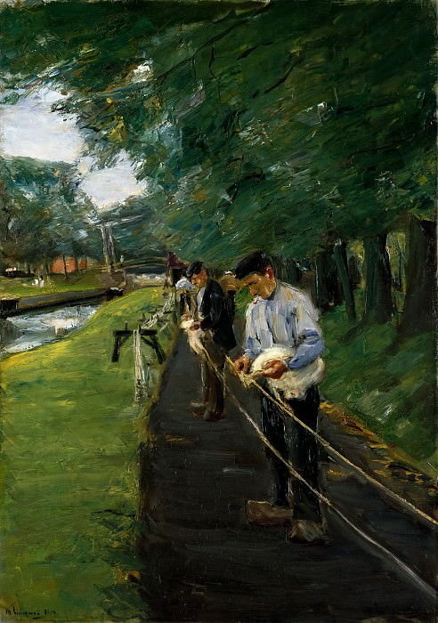 Max Liebermann - The Ropewalk in Edam. Metropolitan Museum: part 2