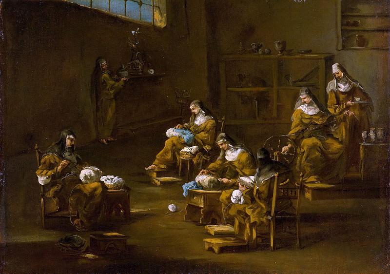 Follower of Alessandro Magnasco - Nuns at Work. Metropolitan Museum: part 2