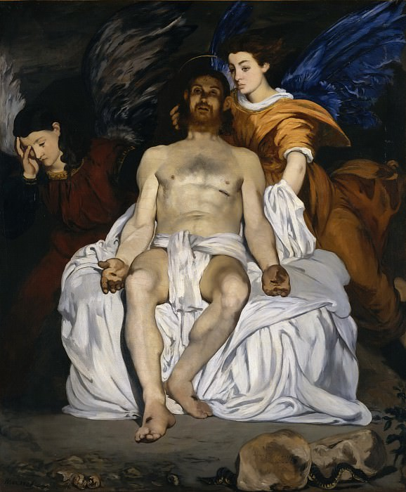 Édouard Manet - The Dead Christ with Angels. Metropolitan Museum: part 2