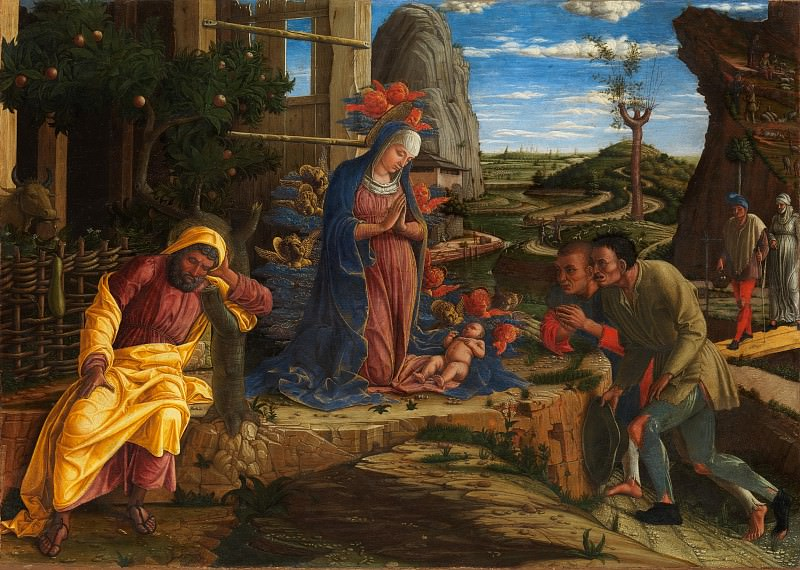 Andrea Mantegna - The Adoration of the Shepherds. Metropolitan Museum: part 2
