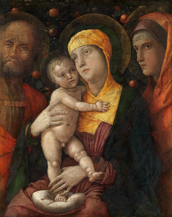 Andrea Mantegna - The Holy Family with Saint Mary Magdalen. Metropolitan Museum: part 2