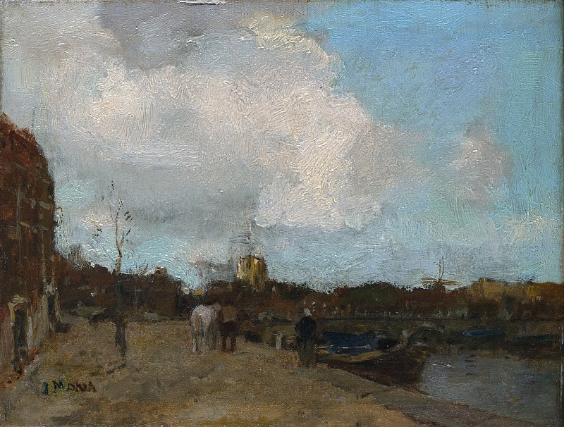 Jacob Maris - Canal Side. Metropolitan Museum: part 2