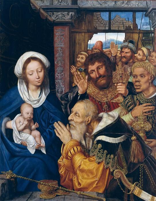 Quentin Massys (Netherlandish, Leuven 1465/66–1530 Kiel, near Antwerp) - The Adoration of the Magi. Metropolitan Museum: part 2