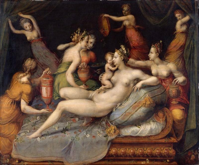 Master of Flora - The Birth of Cupid. Metropolitan Museum: part 2