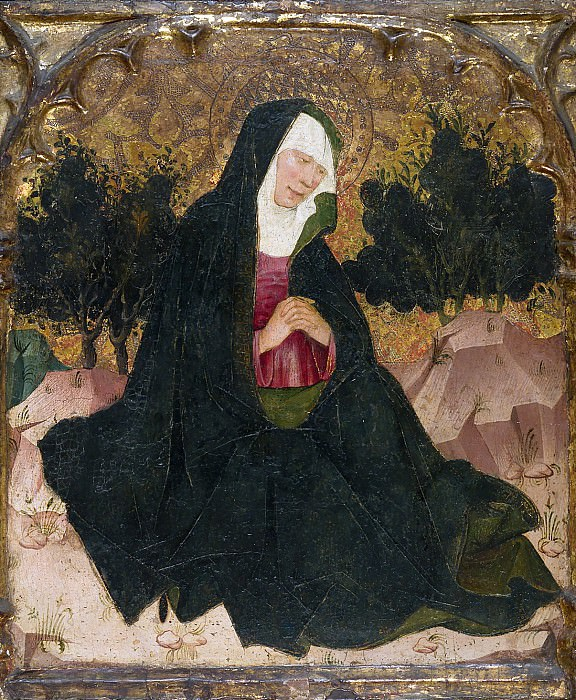 Spanish Painter, second quarter 15th century - The Virgin. Metropolitan Museum: part 2