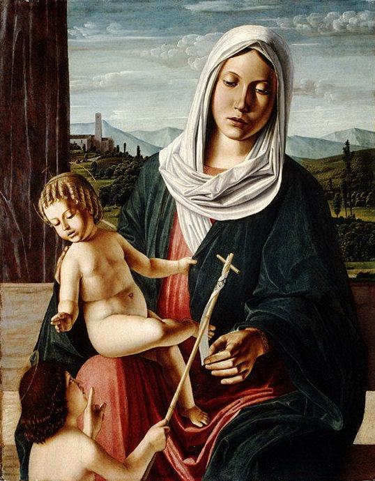 Michele da Verona (Italian, Verona 1470–1536/44 Verona) - Madonna and Child with the Infant Saint John the Baptist. Metropolitan Museum: part 2