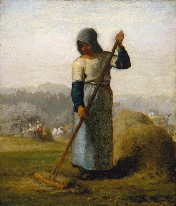 Жан-Франсуа Милле - Женщина с граблями. Музей Метрополитен: часть 2