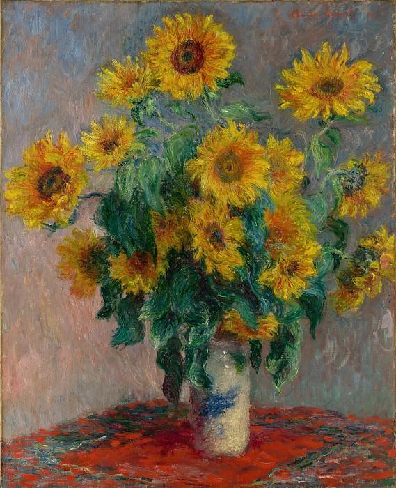Claude Monet - Bouquet of Sunflowers. Metropolitan Museum: part 2