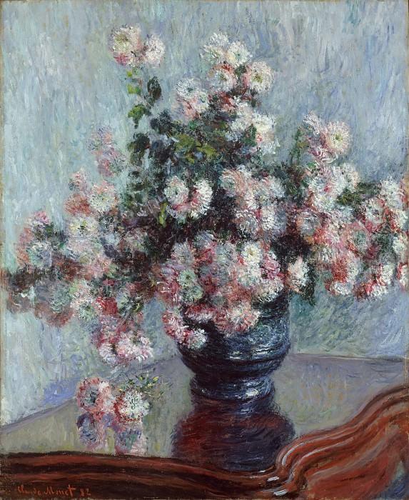 Claude Monet - Chrysanthemums. Metropolitan Museum: part 2
