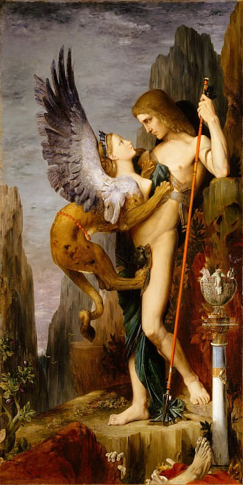 Gustave Moreau - Oedipus and the Sphinx. Metropolitan Museum: part 2