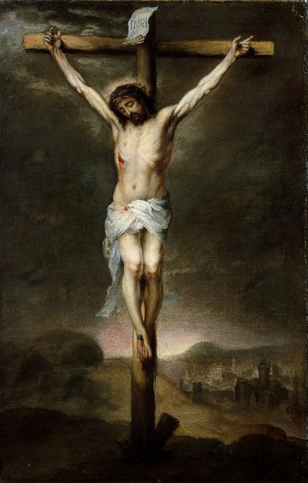 Bartolomé Esteban Murillo - The Crucifixion. Metropolitan Museum: part 2