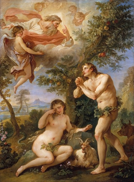 Charles Joseph Natoire - The Expulsion from Paradise. Metropolitan Museum: part 2