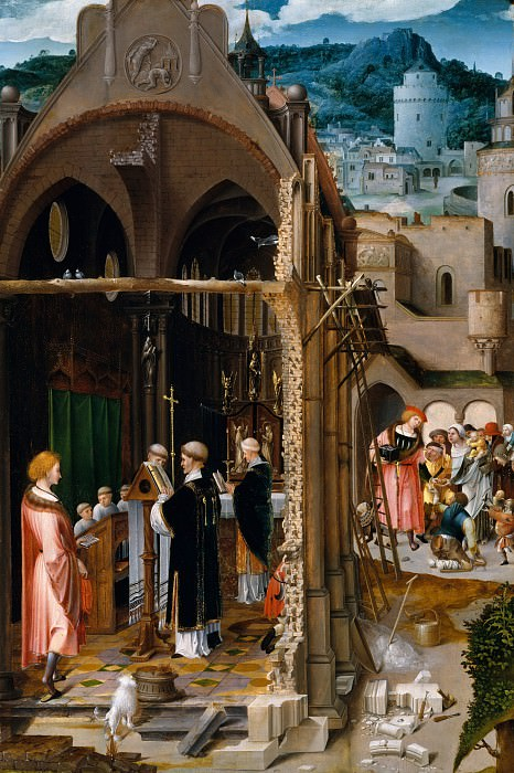 Netherlandish Painter, about 1520-25 - A Sermon on Charity (possibly the Conversion of Saint Anthony). Metropolitan Museum: part 2