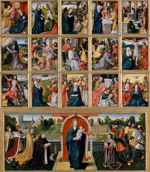 Нидерландский художник, около 1515-20 - Пятнадцать таинств и Дева в розарии. Музей Метрополитен: часть 2