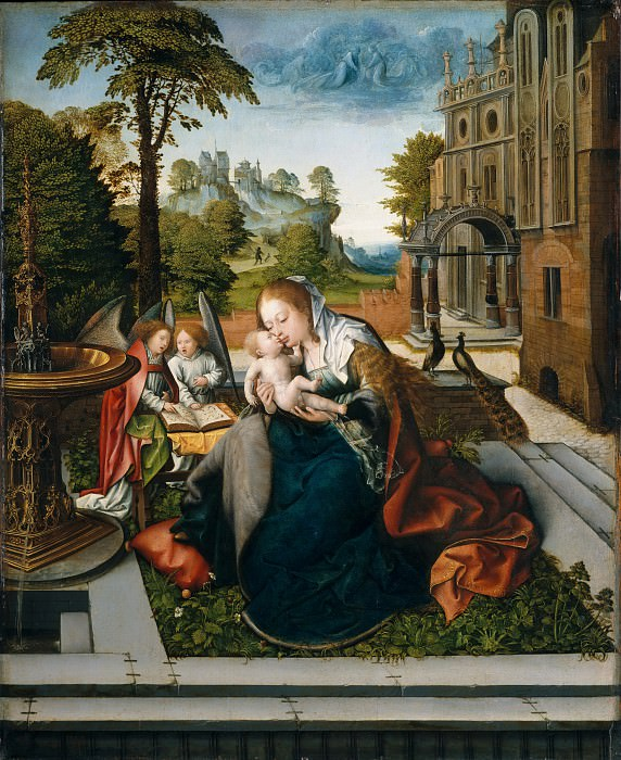 Bernard van Orley - Virgin and Child with Angels. Metropolitan Museum: part 2