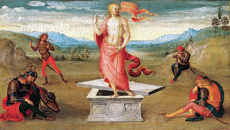Perugino (Italian, Città della Pieve, active by 1469–died 1523 Fontignano) - The Resurrection. Metropolitan Museum: part 2