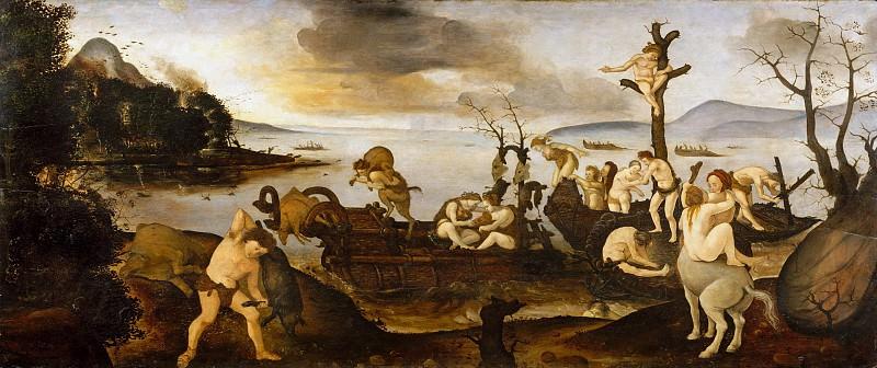 Piero di Cosimo (Italian, Florence 1462–1522 Florence) - The Return from the Hunt. Metropolitan Museum: part 2