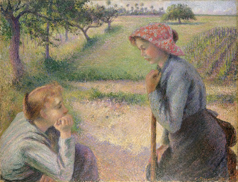 Camille Pissarro - Two Young Peasant Women. Metropolitan Museum: part 2