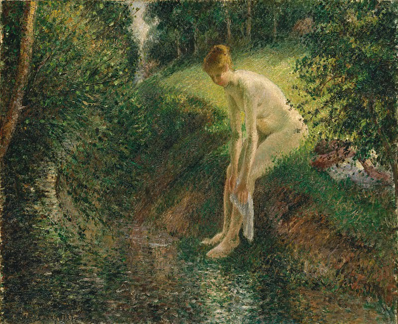 Camille Pissarro - Bather in the Woods. Metropolitan Museum: part 2