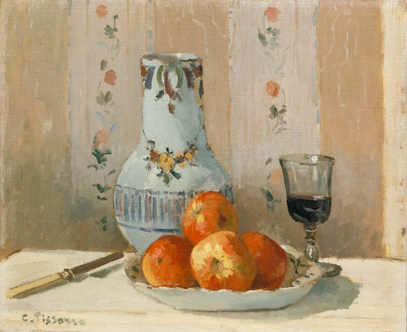 Camille Pissarro - Still Life with Apples and Pitcher. Metropolitan Museum: part 2