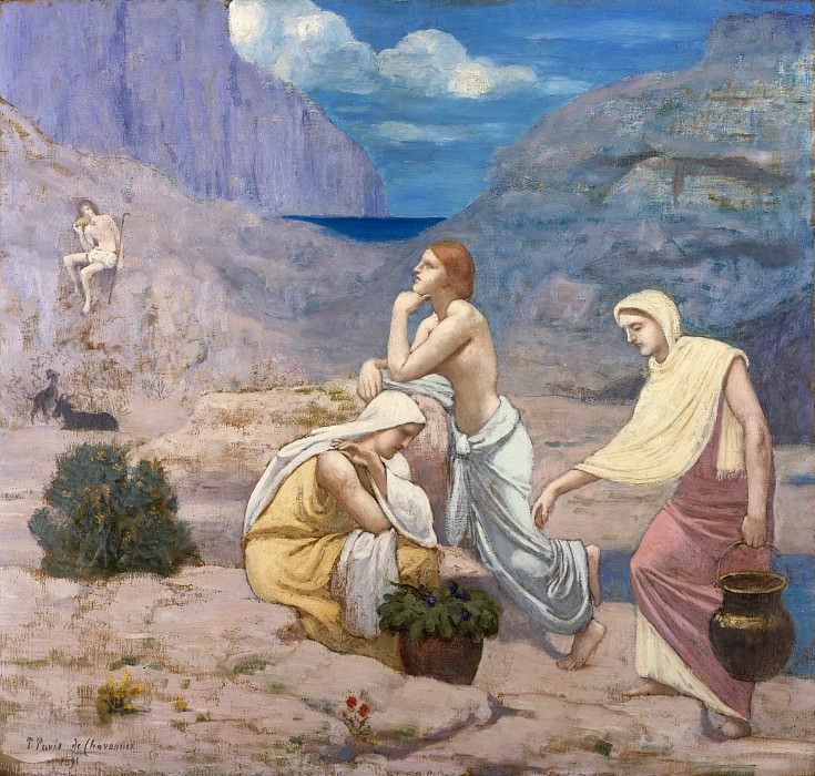 Pierre Puvis de Chavannes - The Shepherd's Song. Metropolitan Museum: part 2