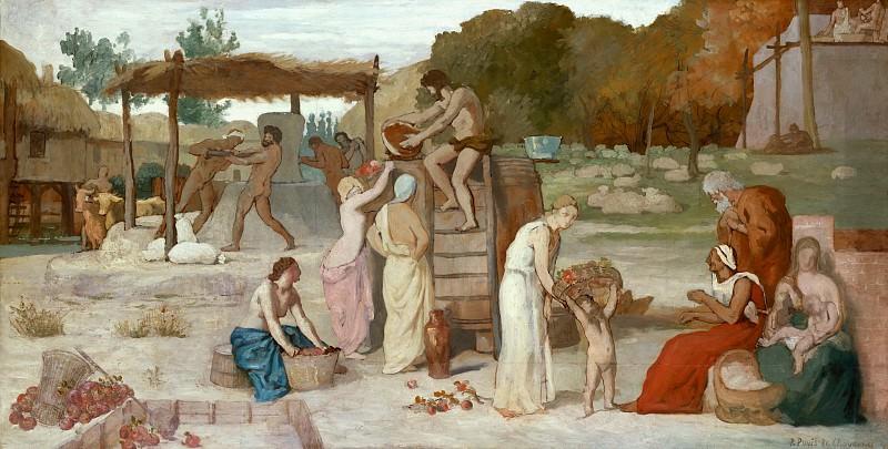 Pierre Puvis de Chavannes - Cider. Metropolitan Museum: part 2