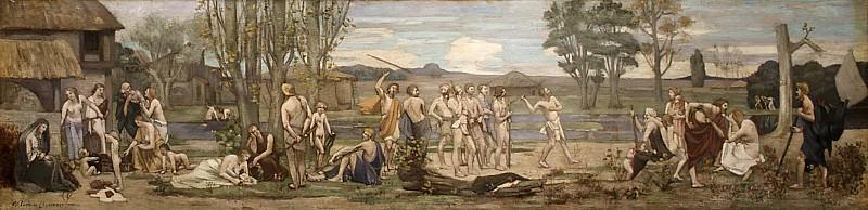 Pierre Puvis de Chavannes - Ludus pro patria (Patriotic Games). Metropolitan Museum: part 2