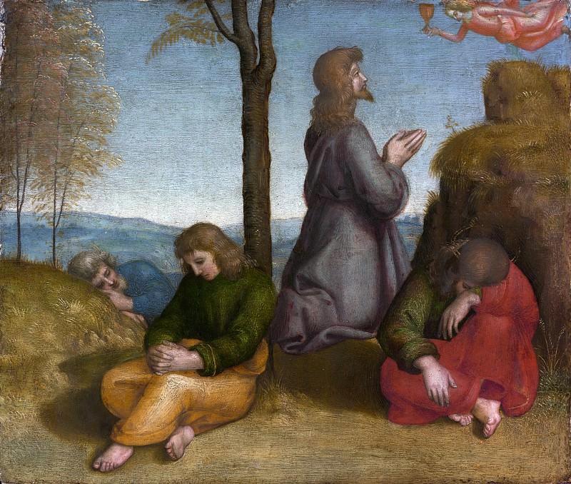 Raphael (Italian, Urbino 1483–1520 Rome) - The Agony in the Garden. Metropolitan Museum: part 2