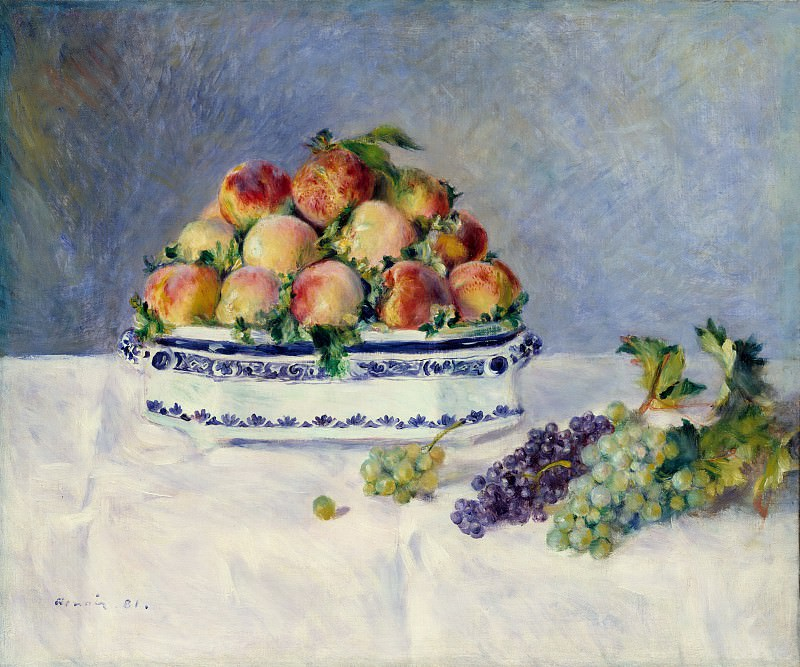 Auguste Renoir - Still Life with Peaches and Grapes. Metropolitan Museum: part 2