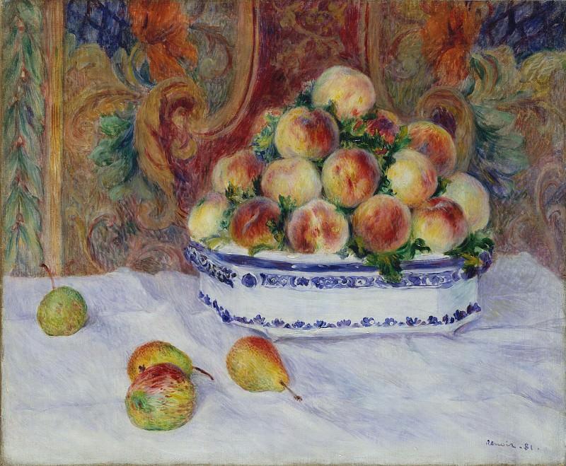 Auguste Renoir - Still Life with Peaches. Metropolitan Museum: part 2