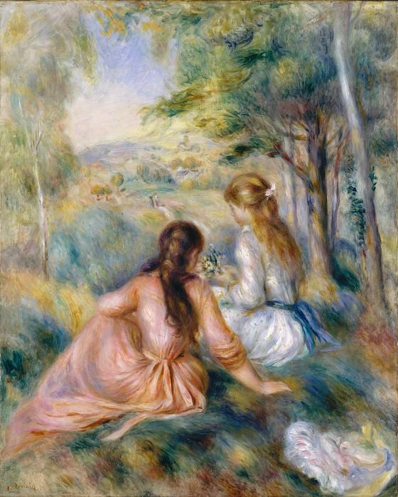 Auguste Renoir - In the Meadow. Metropolitan Museum: part 2