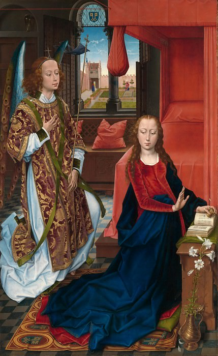Hans Memling - The Annunciation. Metropolitan Museum: part 2