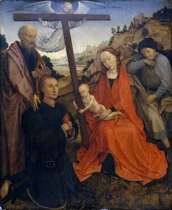 Style of Rogier van der Weyden - The Holy Family with Saint Paul and a Donor. Metropolitan Museum: part 2