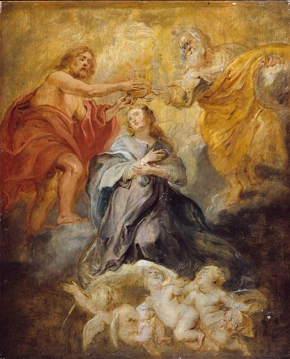 Peter Paul Rubens - The Coronation of the Virgin. Metropolitan Museum: part 2