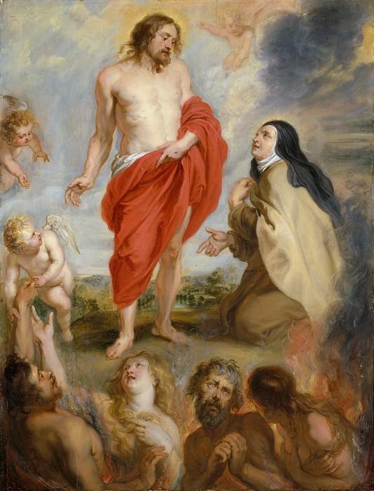 Workshop of Peter Paul Rubens - Saint Teresa of Ávila Interceding for Souls in Purgatory. Metropolitan Museum: part 2
